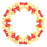 Round frame made of ribbon bows Stock Photo
