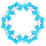 Round frame made of ribbon bows Royalty Free Stock Photo