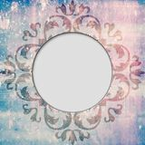 Round frame ornament background Stock Image