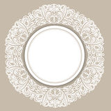 Round Frame Over Floral Stock Images