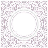 Round Frame Over Floral Royalty Free Stock Photography