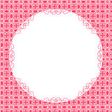 Round frame with pattern background Stock Photo