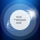 Round Frame with Place for Text. Blue background. Stock Photography