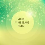 Round Frame with Place for Text. Falling Snow Background. Snowflake Stock Photography