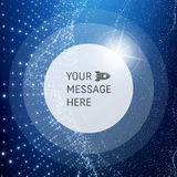 Round Frame with Place for Text. Lattice Structure. 3D Grid Stock Photo
