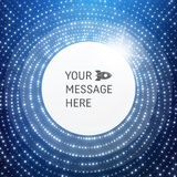 Round Frame with Place for Text. Lattice Structure. 3D Grid Royalty Free Stock Photo
