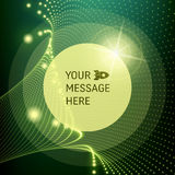 Round Frame with Place for Text. Lattice Structure. 3D Grid Stock Image