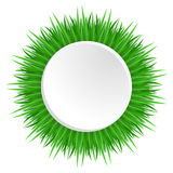 Round frame with realistic grass. Royalty Free Stock Images