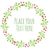 Round frame red heart garland Royalty Free Stock Photos