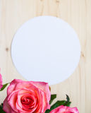 Round frame with rose Stock Images