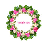 Round frame of roses Royalty Free Stock Image