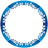 Round frame of sea waves. Royalty Free Stock Image