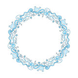 Round frame of seafood Royalty Free Stock Image