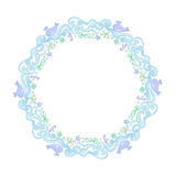 Round frame of seafood. Illustration Stock Images