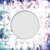 Round frame shabby ornament background Royalty Free Stock Photo