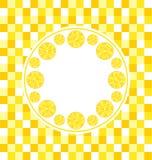Round Frame with Sliced Lemons Royalty Free Stock Image