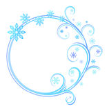 Round frame with snowflakes Stock Image