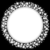 Round frame with stars Stock Photography