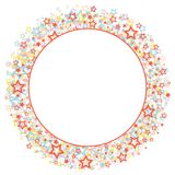 Round frame with stars. Stock Photo