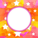 Round frame with stars Royalty Free Stock Images