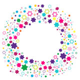 Round frame with stars. Stock Image