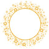 Round frame with stars. Royalty Free Stock Photos