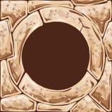 Round frame on stone seamless pattern Royalty Free Stock Image