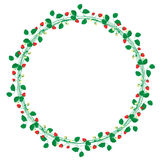 Round frame with strawberry ornament Royalty Free Stock Photo