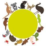 Round frame for text Animals Australia: Echidna Stock Photos