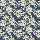 Round frame for text. Cute little flowers seamless pattern Royalty Free Stock Photography
