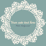Round frame for text. Vintage round frame for text Royalty Free Stock Photos