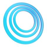 Round frame of three rings Royalty Free Stock Photo