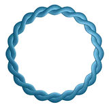 Round frame is twisted out of leather is blue.  Royalty Free Stock Photo