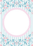 Round frame at wallpaper background Stock Images