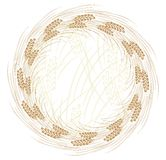 Round frame with wheat. Stock Images