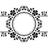 Round frame on white Royalty Free Stock Images
