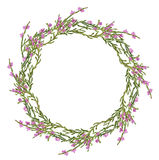 Round Frame With Heather Royalty Free Stock Photos