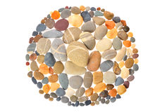 Round Frame With Natural Stones Royalty Free Stock Photos