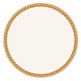Round Frame With Rope Border Royalty Free Stock Photo