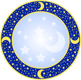 Round Frame With Stars Royalty Free Stock Image