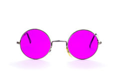 Round-framed glasses. Isolated on a white background royalty free stock photos