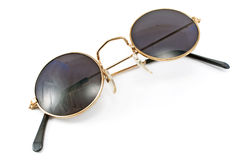 Round framed retro sunglasses Royalty Free Stock Photos