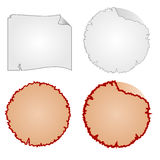 Round frames or Damaged Equipment and tattered paper vector Stock Photo