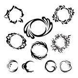 Round frames of different styles. Grouped royalty free illustration