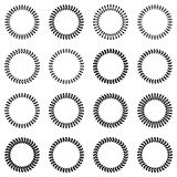 Round frames in the form of laurel wreaths. Royalty Free Stock Image