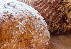 Round french boule bread Royalty Free Stock Photo