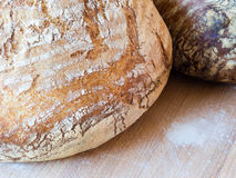 Round french boule bread Stock Photos