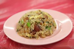 Round fried rice Stock Photography
