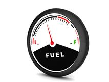 Round fuel meter Stock Photography