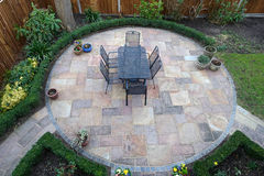 Round garden patio Royalty Free Stock Images